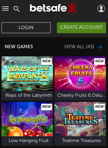 Betsafe App Games