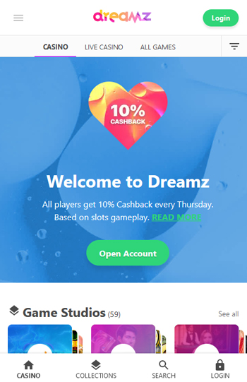 Dreamz Casino Mobile App