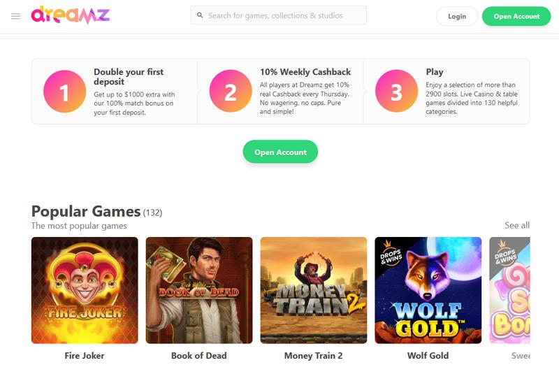 dreamz-casino-website