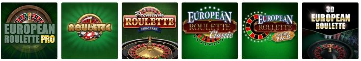 European Roulette Games at partycasino