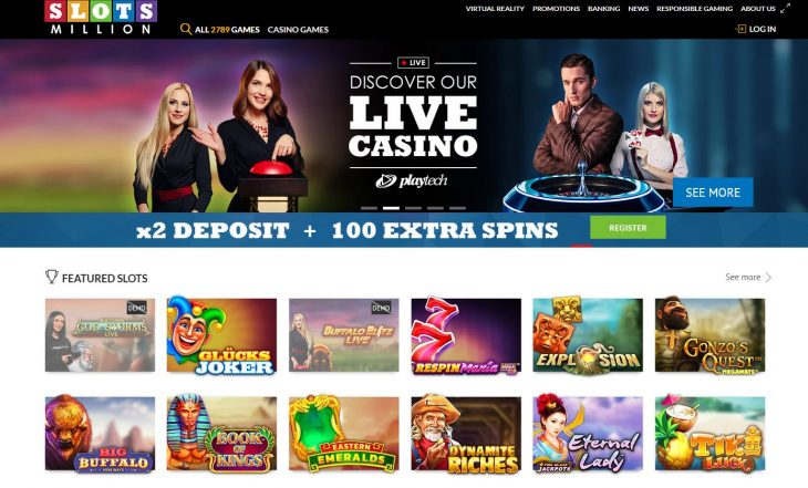 SlotsMillion Canada Website